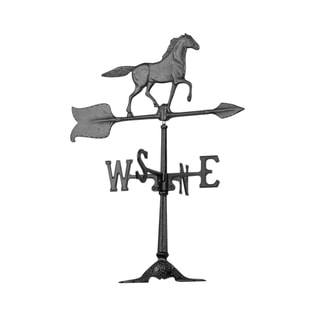 White Hall Black 24-inch Horse Accent Weathervane