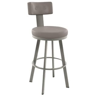 Amisco Tower 26-inch Metal Swivel Counter Stool in Grey/ Black (As Is Item)