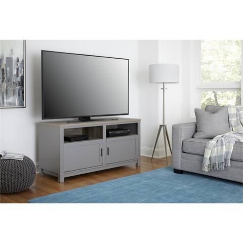 Ameriwood Home Carver Coastal Contemporary Grey 60-inch TV Stand
