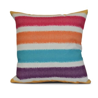 Fun in the Sun Stripe Print Outdoor Pillow