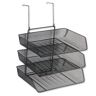 Fellowes Mesh Partition Additions Three-Tray Organizer 11 1/8 x 14 x 14 3/4 Black