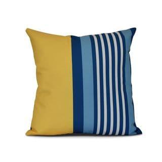 Beach Shack Stripe Print Outdoor Pillow