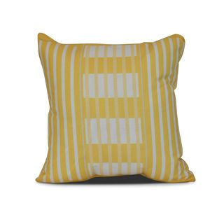 Beach Blanket Stripe Print Outdoor Pillow