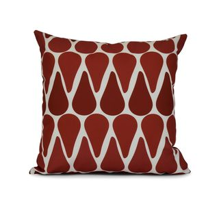 Watermelon Seeds Geometric Print Outdoor Pillow