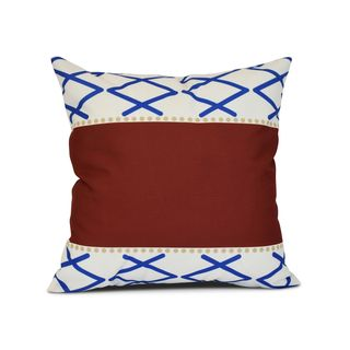 Knot Fancy Geometric Print Outdoor Pillow