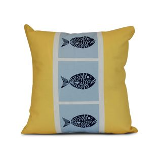Fish Chips Animal Print Outdoor Pillow