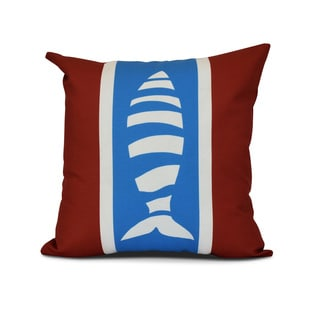 Puzzle Fish Animal Print Outdoor Pillow