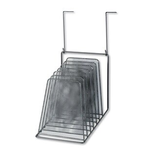 Fellowes Mesh Partition Additions Six-Step File Organizer 7 1/2 x 10 1/2 x 17 Black