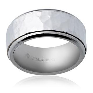 Men's Silver Plated Titanium 10-millimeter Band
