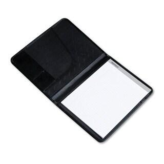 Samsill Professional Padfolio Storage Pockets/Card Slots Writing Pad Black