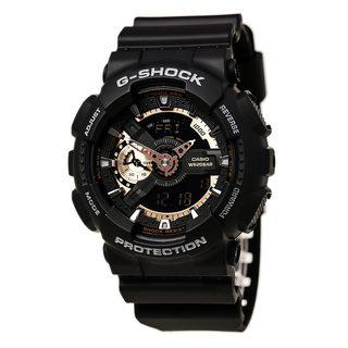 Casio G-Shock Men's GA110RG-1A Black Rubber Ana-Digital Watch