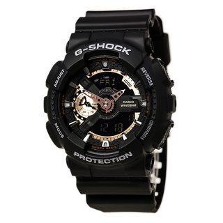 Casio G-Shock Men's GA110RG-1A Black Rubber Ana-Digital Watch