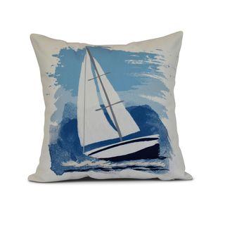 Sailing the Seas Geometric Print Outdoor Pillow