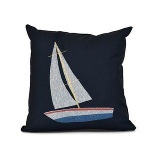 Set Sail Geometric Print Outdoor Pillow