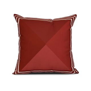 Nautical Angles Geometric Print Outdoor Pillow