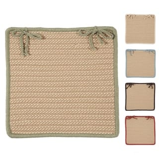 Textured Accent Indoor/Outdoor Chair Pads Set-4 https://ak1.ostkcdn.com/images/products/14074788/P20686535.jpg?impolicy=medium