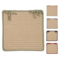 Textured Accent Indoor/Outdoor Chair Pads Set-4