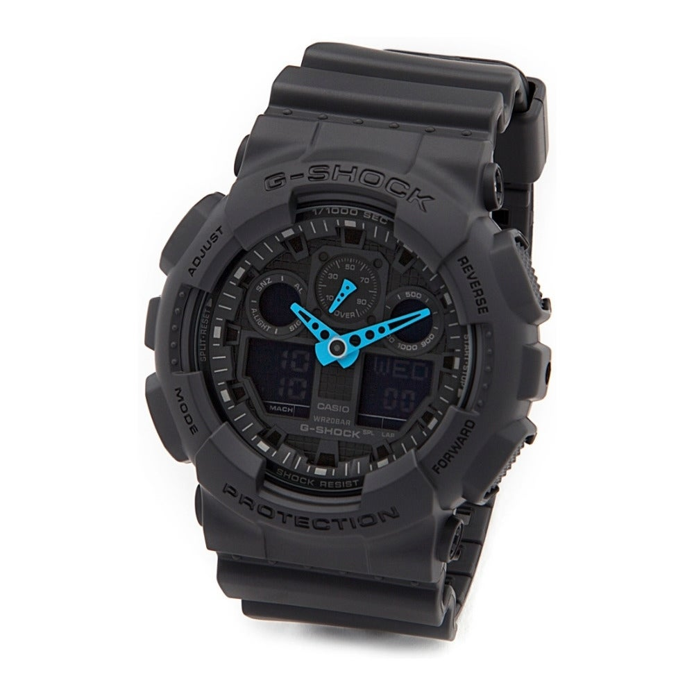 Casio G-Shock Black Rubber and Stainless Steel Men's Anal...