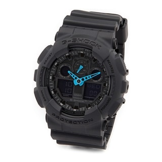 Casio G-Shock Black Rubber and Stainless Steel Men's Analog and Digital Watch