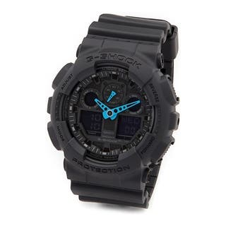 Casio G-Shock Black Rubber and Stainless Steel Men's Analog and Digital Watch|https://ak1.ostkcdn.com/images/products/14074790/P20686545.jpg?impolicy=medium
