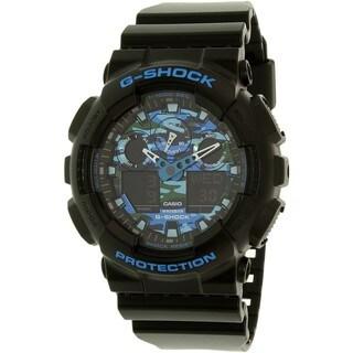 Casio G-Shock Men's GA100CB-1A Rubber Black Ana-Digital Watch
