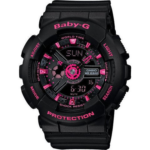 Casio Baby-G Mini GA110 Series Women's Sports Watch(Black/Pink)
