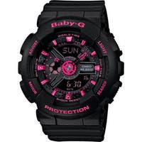 Casio Baby-G Mini GA110 Series Women's Sports Watch (Black/Pink)