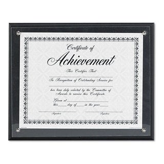 DAX Award Plaque Wood/Acrylic Frame Up to 8 1/2 x 11 Black