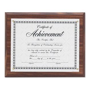 DAX Award Plaque Wood/Acrylic Frame Up to 8 1/2 x 11 Walnut