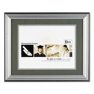 DAX Photo Frame Desk/Wall Plastic 11 x 14 8 1/2 x 11 Charcoal/Nickel-Tone