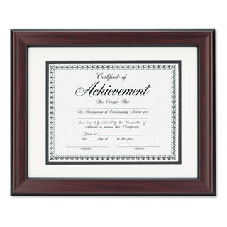 DAX Rosewood Document Frame Wall-Mount Plastic 11 x 14 8 1/2 x 11