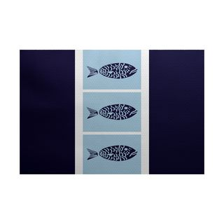 Fish Chips Animal Print Indoor/Outdoor Rug