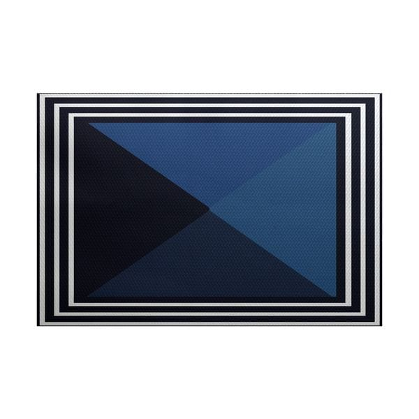 Nautical Angles Geometric Print Indoor/Outdoor Rug