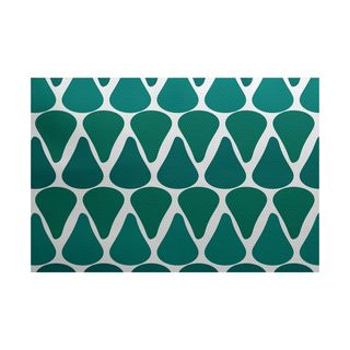 Watermelon Seeds Geometric Print Indoor/Outdoor Rug
