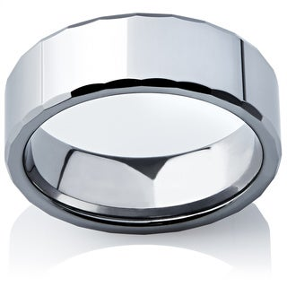 High-Polished Tungsten Spartan Men's Ring