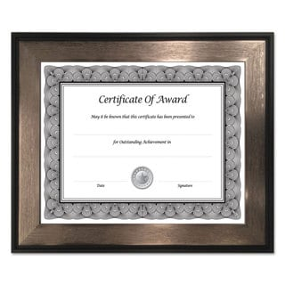NuDell Director Series Document and Photo Frame 8 1/2 x 11 Mahogany/Silver Frame