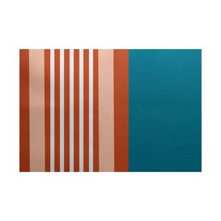 Beach Shack Stripe Print Indoor/Outdoor Rug