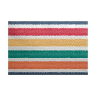 Fun in the Sun Stripe Print Indoor/Outdoor Rug