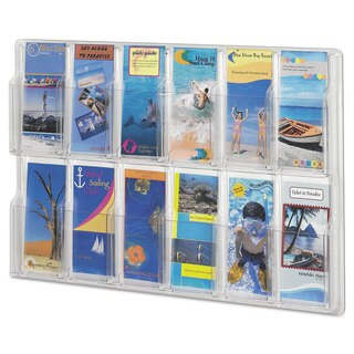 Safco Reveal Clear Literature Displays 12 Compartments 30 -inch wide x 2-inch deep x 20 1/4-inch high Clear