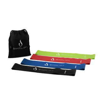 Simplify Latex Resistance Loop Exercise Bands (Set of 4)