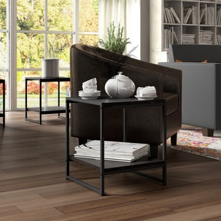 Modern 16-inch Square Side Table / End Table / Coffee Table