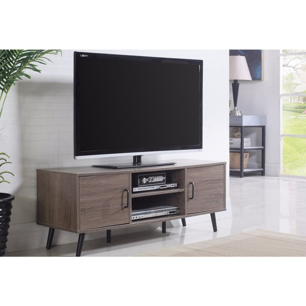 shop mid century modern tv stand free shipping today 14074932. Black Bedroom Furniture Sets. Home Design Ideas