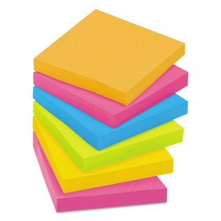 Post-it Notes Super Sticky Pads in Rio de Janeiro Colors 3 x 3 90-Sheet 12/Pack