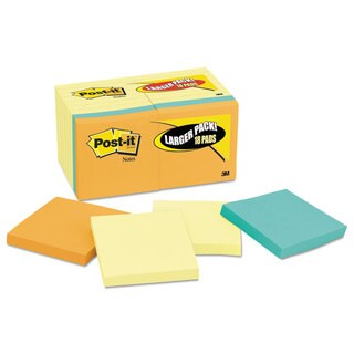 Post-it Notes Original Pads Value Pack 3 x 3 Canary Yellow with Cape Town 100-Sheet 18 Pads