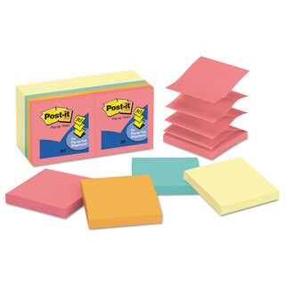 Post-it Pop-up Notes Original Pop-up Notes Value Pack 3 x 3 Canary Yellow with Cape Town 100-Sheet