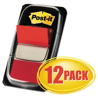 Post-it Flags Marking Page Flags in Dispensers Red 50 Flags/Dispenser 12 Dispensers/Pack