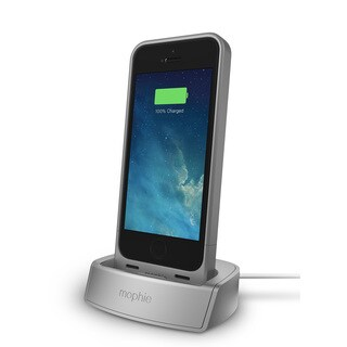 mophie 2305 Silver Juice Pack Dock for iPhone 5/ 5s/ SE