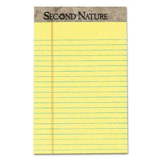 TOPS Second Nature Recycled Pads Jr. Legal Letter Pad 5 x 8 Canary 50 Sheets (Box of 12)