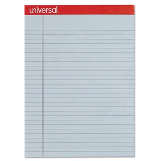 Universal Colored Perforated Note Pads 8-1/2 x 11 Blue 50-Sheet (Box of 12)
