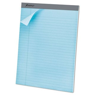 Ampad Pastels Pads 8 1/2 x 11 3/4 Blue 50 Sheets (Box of 12)
